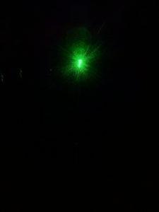 Laser dans phare arrière de voiture
