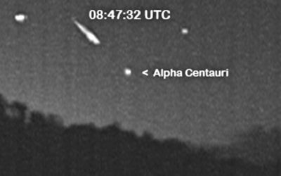 3 extremely rare Quadrantid meteors were photographed in the Southern Skies. Frankie Lucena via Spaceweather
