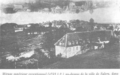 Photographie du village de Salers prise par l'Abbé du village dans les années 1900 sup
