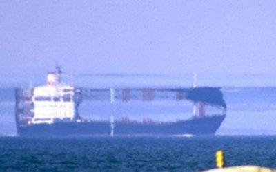 Un navire au large des côtes Norvégiennes sup